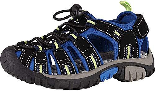 McKINLEY Vapor II Jr. Trekking- & Wanderhalbschuhe, Schwarz (Black/Blue/Lime 914), 36 EU