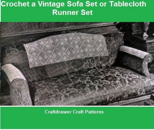 Crochet a Vintage Sofa Set Pattern - Crochet Motif Pattern f