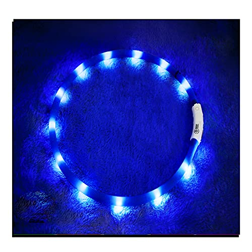 LED Dog Collar,USB Rechargeable Glowing Dog Collars,...