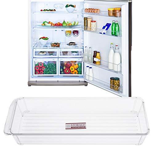 Caja de almacenamiento para frigorífico, estante de plástico para congelador con tapa, diseño de mano a mano, estante de almacenamiento en frío, no tóxico para el restaurante del hotel en(6137-small)