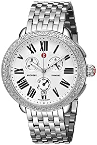 MICHELE Women's MWW21A000001 Serein Analog Display Swiss Quartz Silver Watch image