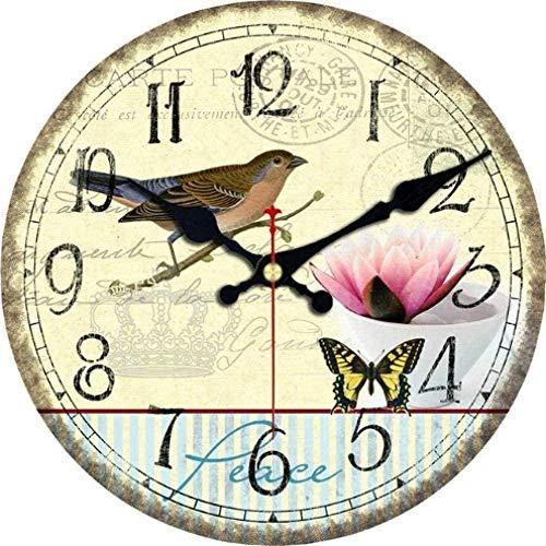 SXXXIT Wall Clock Natural Landscape Wall Clocks Birds Still Life Study Room Office Kitchen Home Decor Art Wall Clock -3