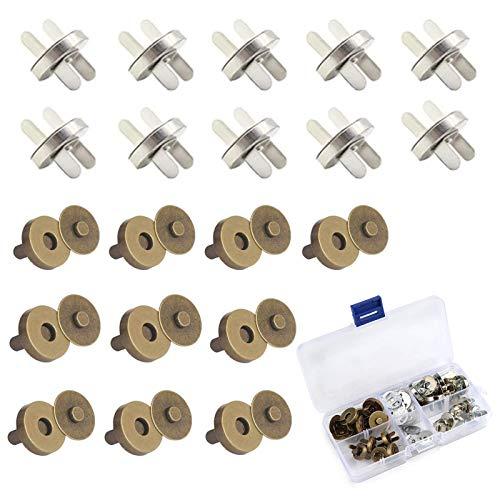 Botón Magnético Diy Cierre Botón Magnético Plata y Bronce Cierres De Botón...