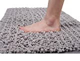 3. Yimobra Original Luxury Shaggy Bath Mat, 24 x 17 Inches, Soft and Cozy, Super Absorbent Water, Non-Slip, Machine-Washable, Thick Modern for Bathroom Bedroom, Gray