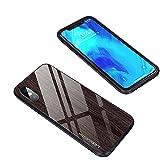 TCYu スマホカバー iPhone X/XS iPhone XR iPhone Xs MAXケース 電話ケース 保護カバー簡潔な ナチュラル 木目 強化ガラス 防止 防爆 インパクト防止