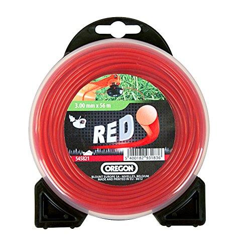 Oregon scientific 552690 - Línea de hilo de corte redondo rojo para hierba baja