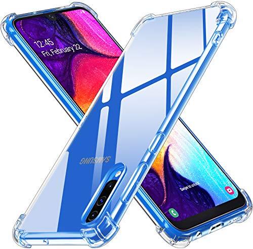 ivoler Funda para Samsung Galaxy A50 / A30S, Carcasa Protectora Antigolpes Transparente con Cojín Esquina Parachoques, Flexible Suave TPU Silicona Caso Delgada Anti-Choques Case Cover