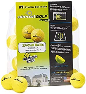 AG AlmostGolf Balls - Limited Flight Practice Golf Balls - (24 Pack) - Almost Golf Balls Foam Golf Training Aids for Indoo...