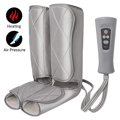 Leg Massager Foot and Calf Massager Machine with Optional Heat 3 Modes 4 Intensities Handheld Controller for Feet, Legs, Calves Muscle Relaxation - Home & Office Use