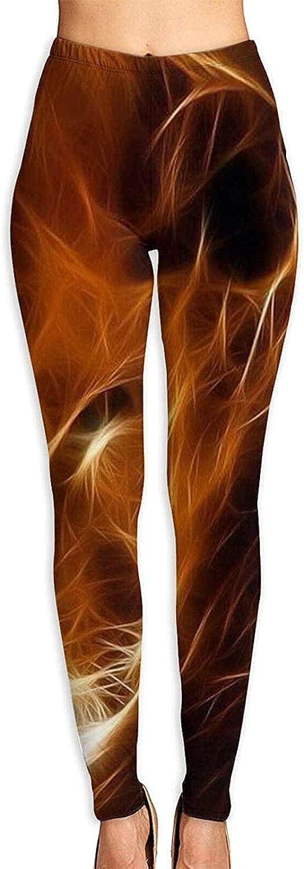 Fire Art Lion Light Women's 3D Printed 5% OFF Soft Rare Tummy Leggings Yoga