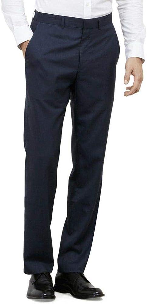 Kenneth Cole REACTION Men's Slim Fit Suit Separate (Blazer, Pant, and Vest) Suit, Blue, 33x30
