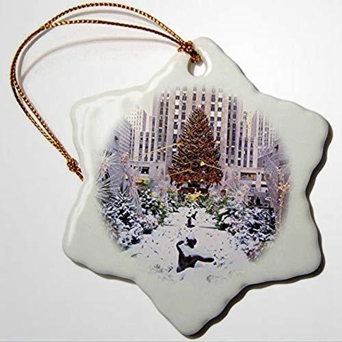 BYRON HOYLE Weihnachtsbaum Rockefeller Center Manhattan New York USA Schneeflocke Weihnachtsschmuck Pandemic Xmas Decor Hochzeit Ornament Urlaub Geschenk