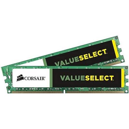 Corsair CMV8GX3M2A1333C9 Value Select 8GB (2x4GB) DDR3 1333 Mhz CL9 Mémoire pour ordinateur de bureau