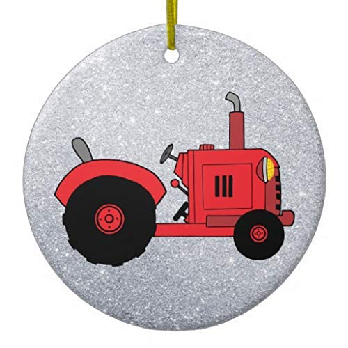 None-brands 2020 Christmas Ornaments, Vintage Red Tractor Christmas Tree Ornaments,2020 Christmas Ornaments,Christmas Memory Keepsake Ornament,for Kids,Girls,Women,Quarantine Keepsake