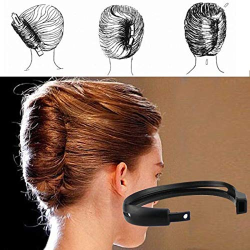 Barhunkft(TM) 2pcs/Set Women Hair Styling Updo Donut Bun Clip Tool French Twist Maker Holder