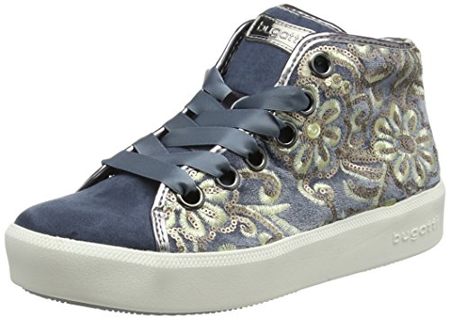 bugatti Damen 422407326469 Hohe Sneaker, Blau (Blue/Metallics 4090), 37 EU