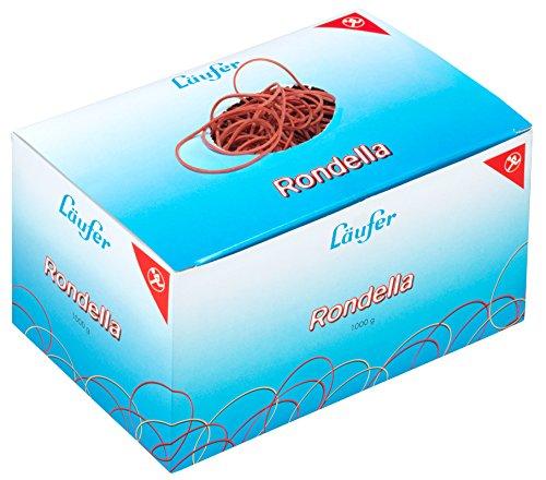 Läufer 50641 Rondella Gummiringe Nr. 13, Durchmesser 85 mm, 1kg Schachtel, Rot, besonders langlebig