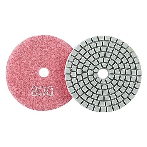 LEISHENT Almohadillas De Pulido De Diamante En Seco En Húmedo para Hormigón Mármol Piedra De Cuarzo Pulido De Granito para Encimeras,3 Pulgadas, 1 Unids,800Grit