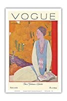 ヴォーグマガジン - 1925年10月 - パリのファッション - ヴィンテージマガジンカバー によって作成された ジョルジュ・ルパプ c.1925 - アートポスター - 31cm x 46cm