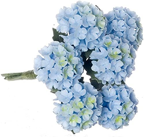 barato en alta calidad Dollhouse Miniature Miniature Miniature Set of 6 azul Hydrangea by Falcon Miniatures by Falcon Miniatures  salida para la venta