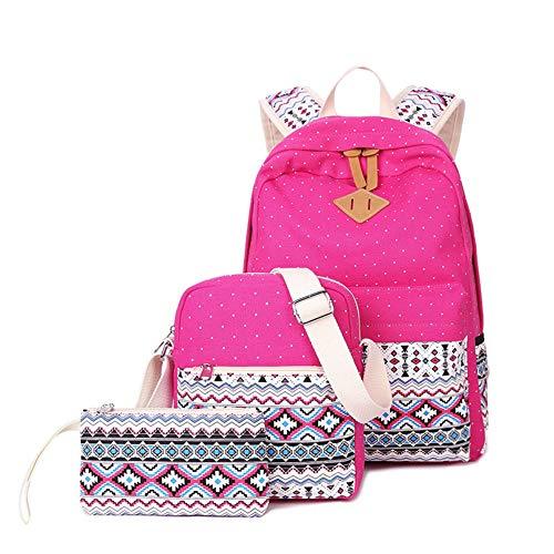 Zokrintz School Backpacks for Teen Girls Daypack Women Lightweight Canvas Backpack Bookbags Set