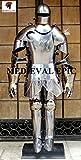 Medieval Epic Traje de caballero medieval de armadura antigua armadura de metal disfraz de cuerpo completo
