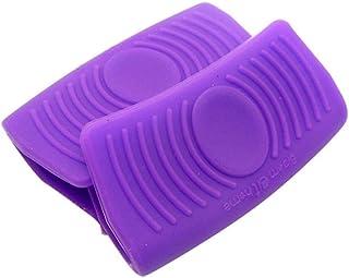 YNuo 2X Horno Mini Guantes de Silicona Resistente al Calor Anti-escaldado Guantes for cocinar portaplacas Olla y agarradores (Color : Purple)