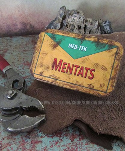 Mentats Tin wasteland storage or prop container - Fallout 3 - 4 - New Vegas - Dune