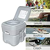 HongK- 5 Gallon 20L Portable Toilet Flush Travel Camping Commode Potty Outdoor/Indoor