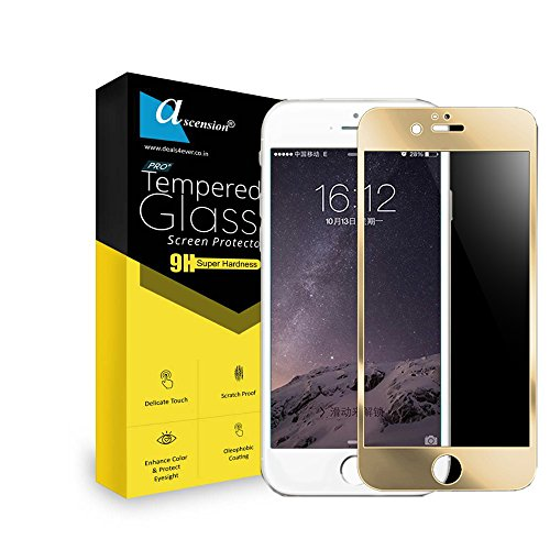 Ascension ® Golden Border Tempered Gorilla Screen Protector High 9h Hard 2.5D Ultra Clear for Apple iPhone 6