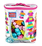 Mega Bloks DCH54 Big Building Bag, Pink, 60 Pieces