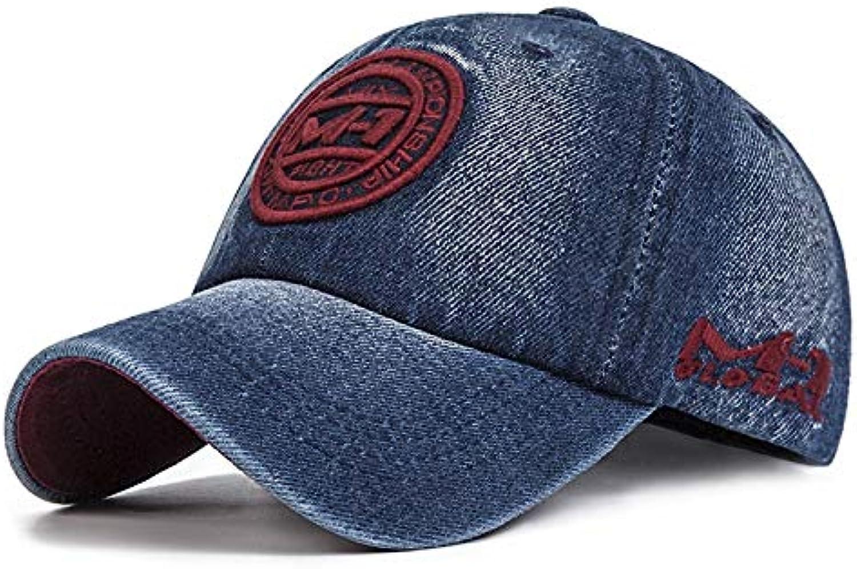 AAMOUSE Denim Washed Baseball Cap Men Spring Summer Sport Hats Embroidery Hip Hop Cap Women Bone chapeu