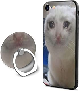 not Crying Cat Meme iPhone 7 Case/iPhone 8 Case, TPU Shockproof Fashion Case with Ring Bracket Compatible with iPhone 7 / iPhone 8