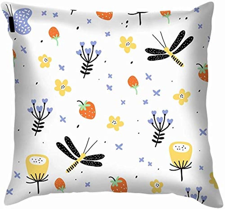 仕事に行くマーキングルーチン手描きの花の表面の草原自然かわいいスロー枕カバーホームソファクッションカバー枕ギフト45x45 cm