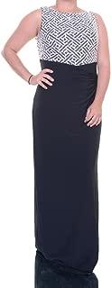 Lauren Ralph Lauren Women's Sequin Jersey Column Gown (16, Black)