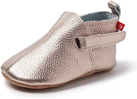 Zutano Leather Baby Shoes for Boys and Girls Rose Gold 12M product image