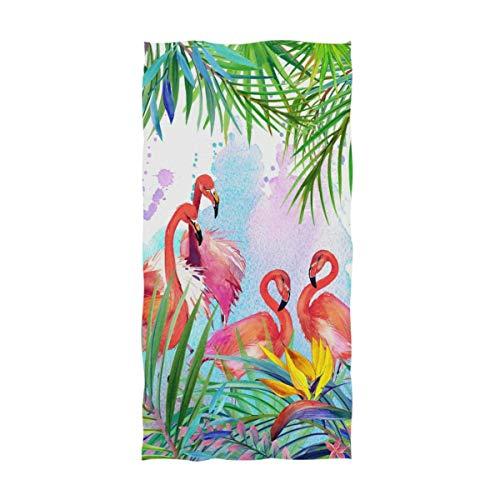 OCEAN AN Chic Tropical Exotic Flamingo Toallas de Mano Decorativas Grandes, Altamente absorbentes, Suaves, multipropósito (15.7'x27.5)