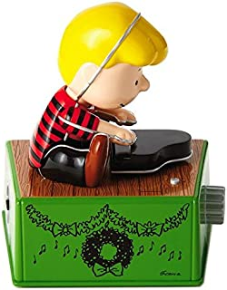 Peanuts Schroeder Christmas Dance Party Figurine With Music and Motion Figurines