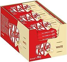 Nestlé KitKat White knapperige chocolade, met witte chocolade, multipack voor snoepkatten, 24 stuks per verpakking (24 x...