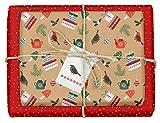 4x Geschenkpapier Weihnachten: hochwertige, beidseitig bedruckte Bögen Weihnachtsgeschenkpapier