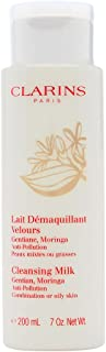 Clarins Anti-Pollution Cleansing Milk with Gentian Moringa by Clarins for Unisex - 7 oz Cleansing Milk, 210 milliliters