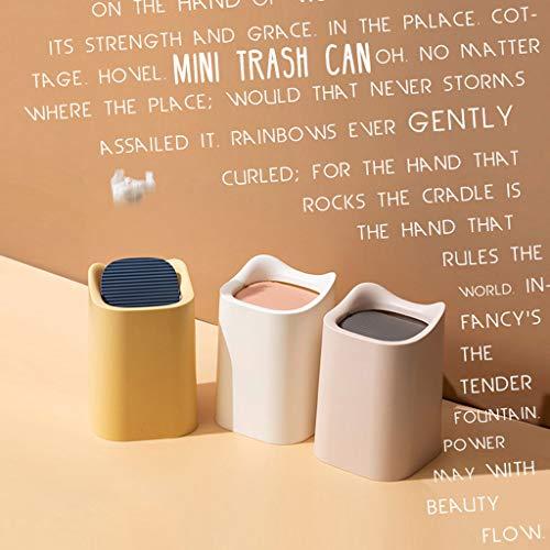 TALENT Desktop-Mülleimer,Mini-Papierkorb,Wohnzimmer Aufbewahrungsbox für Schlafzimmer zu Hause