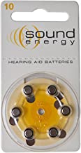 Hearing aid Batteries Size A10 (3 Pack of 6 Each) Made in UK Genuine
