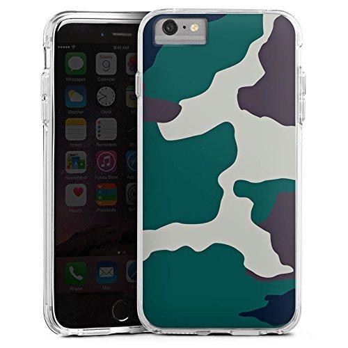 DeinDesign Cover kompatibel mit Apple iPhone 6s Plus Bumper Hülle Bumper Case Schutzhülle Camouflage Bundeswehr Tarn Muster