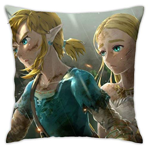 chunxi Link and Zelda Breath of The Wild Decorative pillowcase 18 x 18 inch pillowcase for bedroom cushion cover square outdoor terrace sofa home decoration