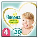 Pampers Größe 4 Premium Protection Baby Windeln, 30 Stück, Weichster Komfort Und Schutz (9-14kg)