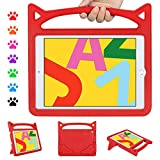 """ipad 10.2 2019 Kids Case, ipad 7th Generation Case for Kids, Ubearkk Shockproof Light Weight Handle Stand Kids Friendly Case for ipad Pro 10.5""""/ ipad Air 3 10.5""""(Red)"""