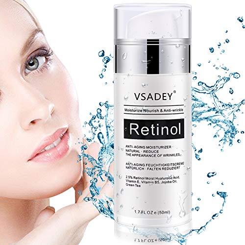VSADEY Retinol Feuchtigkeitscreme, Nachtcreme, Moisturizer Retinol Creme für Gesicht, Anti-Aging &...