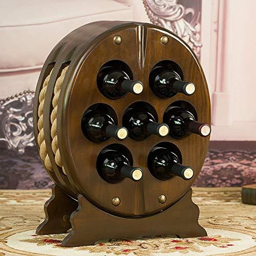 HLL Estantes de Vino, Nave de Estilo Europeo Vintage Cask Bar de Vinos Decoración Práctica