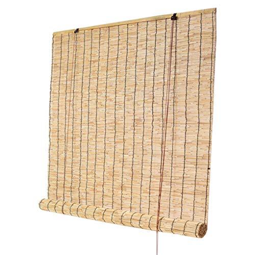 GYC Umweltfreundliche Sommer-Outdoor-Innenrollo-Rollläden, Sonnenschutz-Rollläden, Bambus-Jalousien für Fenster, Premium-Retro-Strohjalousien, dekorative Reed-Vorhänge, Sonnenschutz/Heat In